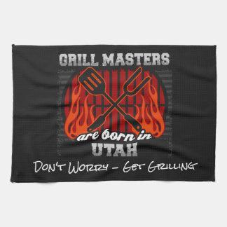 Grill Masters Are Born In Utah Add A Slogan Kitchen Towel