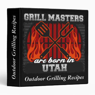 Grill Masters Are Born In Utah Personalized Vinyl Binders