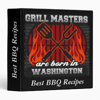 Grill Masters Are Born In Washington Personalized Binder