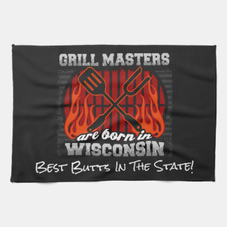 Grill Masters Are Born In Wisconsin Add A Slogan Kitchen Towel