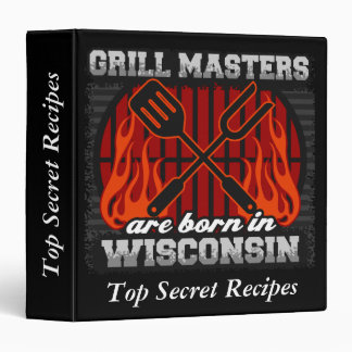 Grill Masters Are Born In Wisconsin Personalized Binders