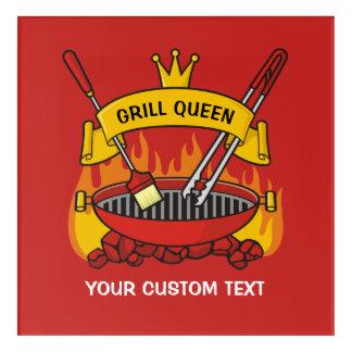 Grill Queen Acrylic Wall Art
