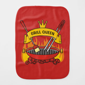 Grill Queen Burp Cloth
