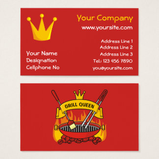 Grill Queen Business Card