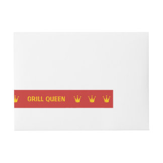 Grill Queen Crown Wraparound Address Label