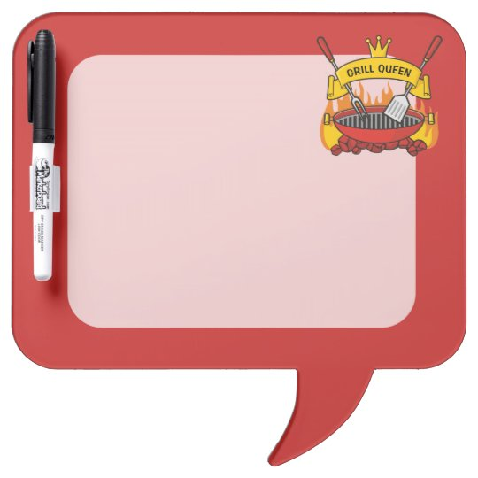 Grill Queen Dry Erase Board