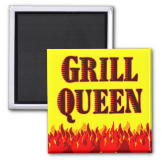 Grill Queen Funny BBQ Saying Magnet Fridge Magnet