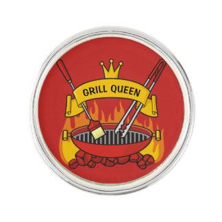 Grill Queen Lapel Pin