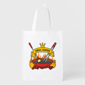 Grill Queen Reusable Grocery Bag