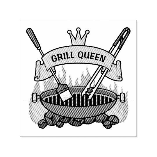 Grill Queen Self-inking Stamp