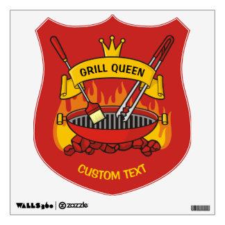 Grill Queen Wall Sticker
