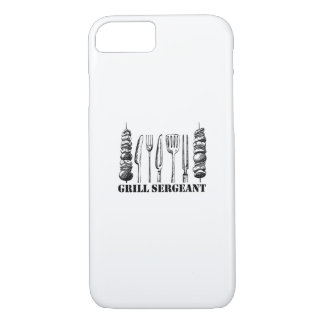 Grill Sergeant BBQ Grilling Hobby Funny  Men Women iPhone 8/7 Case
