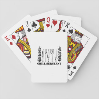 Grill Sergeant BBQ Grilling Hobby Funny  Men Women Playing Cards