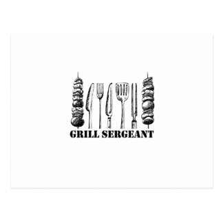Grill Sergeant BBQ Grilling Hobby Funny  Men Women Postcard