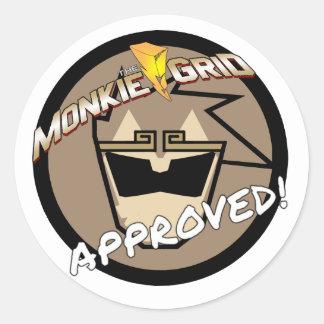"""""""Grille de Monkie approuvée !"""" Autocollant simple"""