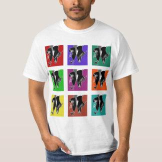 Grille Muli-Colorée de robinet T-shirts