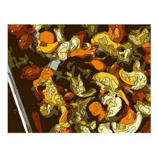 Grilled Carrots Zucchini and Mushroom Dish Postcard
