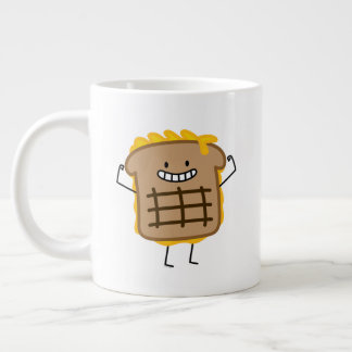 Grilled Cheese Sandwich Cheddar Toasted Bread Large Coffee Mug