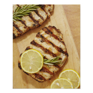 Grilled Chicken Breasts Poster
