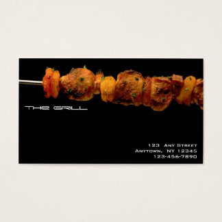 Grilled foods - Restaurant business card