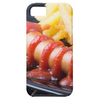 Grilled sausages and fried potato iPhone 5 cases