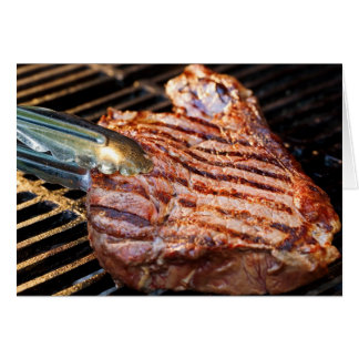Grilled Steak Greeting Cards