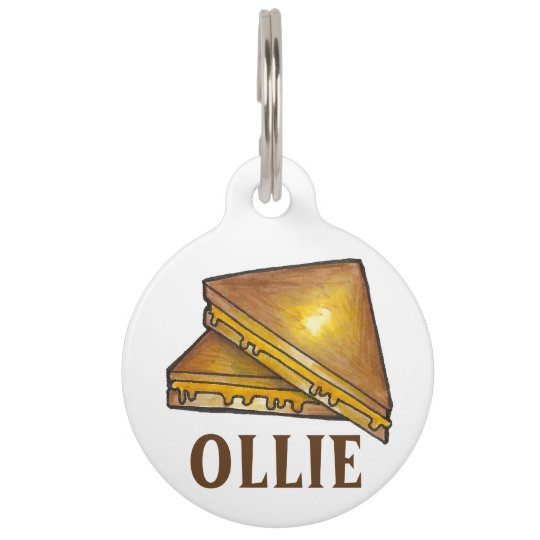 Grilled Toasted Cheese Sandwich Foodie Pet Dog Tag