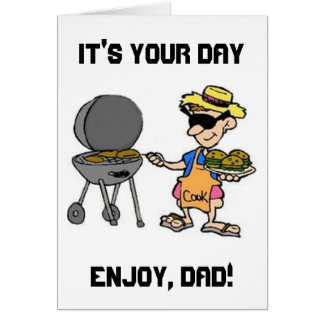 """""""GRILLIN' DAD FOR HIS *BIRTHDAY* OR *FATHER'S DAY* CARD"""