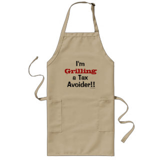 Grilling A Tax Avoider Funny Tax Quote Joke Pun Long Apron