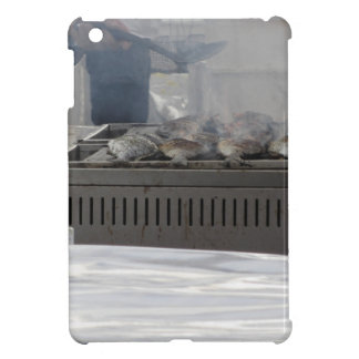 Grilling fish outdoors iPad mini cases