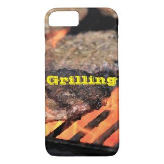 Grilling Hamburgers Apple iPhone Phone Case