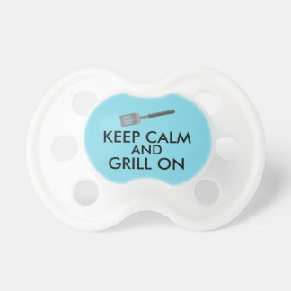 Grilling Keep Calm and Grill On Barbecue Spatula Baby Pacifiers