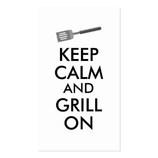 Grilling Keep Calm and Grill On Barbecue Spatula Business Card Templates