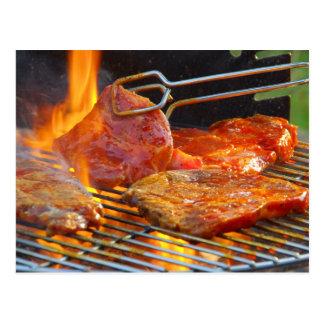 grilling postcard