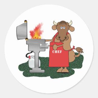 Grilling Round Sticker