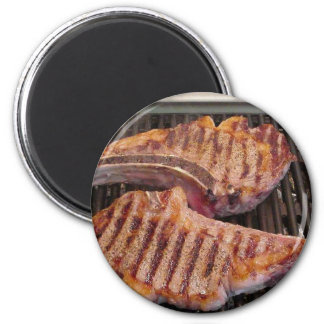 Grilling Steaks Food Dinner Magnet