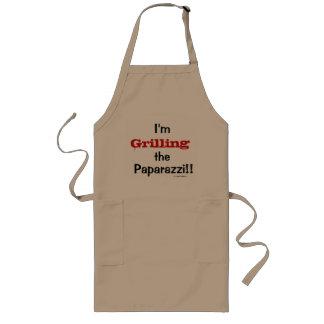 Grilling the Paprazzi Funny Joke Quote Gift Long Apron