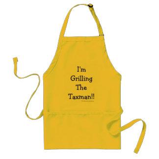 Grilling The Taxman! Witty Cruel Tax Pun Standard Apron
