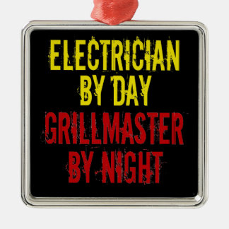 Grillmaster Electrician Metal Ornament