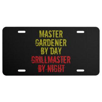 Grillmaster Master Gardener License Plate