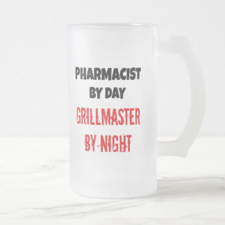 Grillmaster Pharmacist Frosted Glass Beer Mug