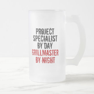 Grillmaster Project Specialist Frosted Glass Beer Mug