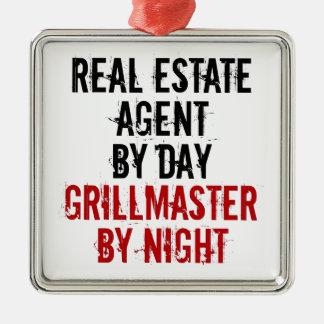 Grillmaster Real Estate Agent Metal Ornament