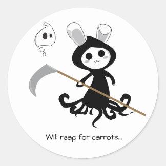 Grim Bunny Classic Round Sticker
