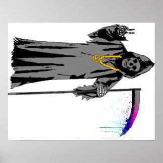 Grim Hippie Print