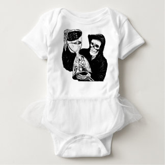 Grim Reaper and Man Baby Bodysuit