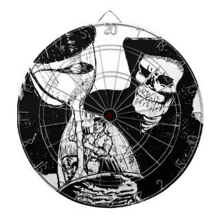 Grim Reaper and Man Dartboard