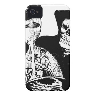 Grim Reaper and Man iPhone 4 Cover