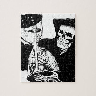 Grim Reaper and Man Jigsaw Puzzle