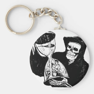 Grim Reaper and Man Keychain